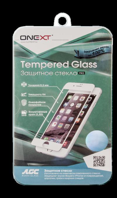 Защитное стекло One-XT для Apple iPhone 6 Plus с рамкой белое
