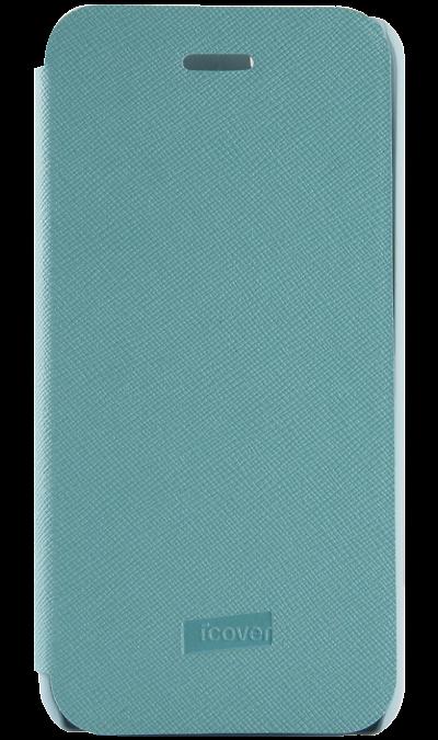 Чехол-книжка iCover Carbio для Apple iPhone 6, кожзам / пластик, голубой