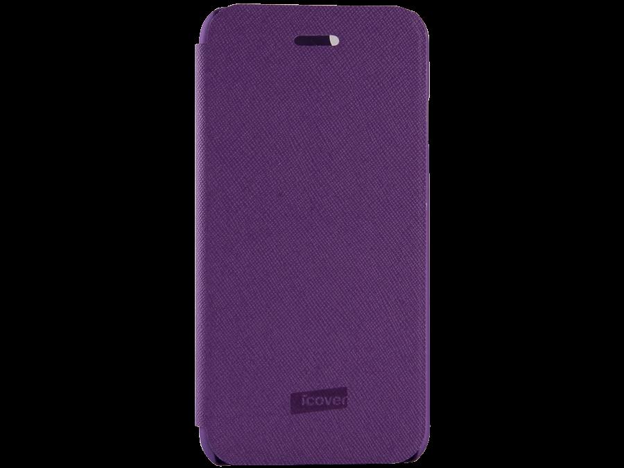 Чехол-книжка iCover Carbio для Apple iPhone 6, кожзам / пластик, пурпурный