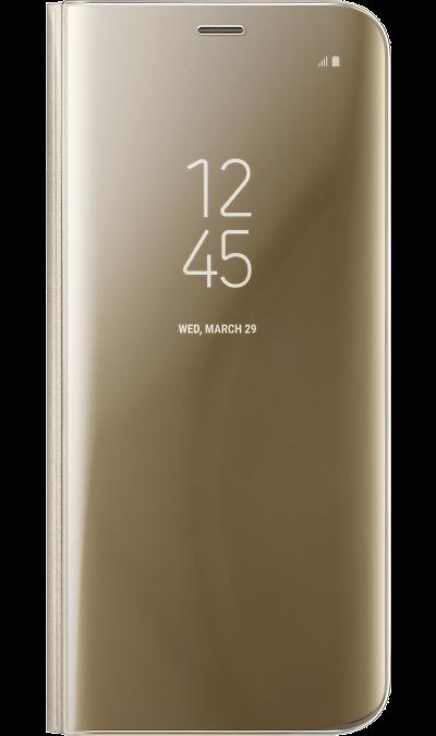 Чехол-книжка Samsung для Galaxy S8, полиуретан, золотистый
